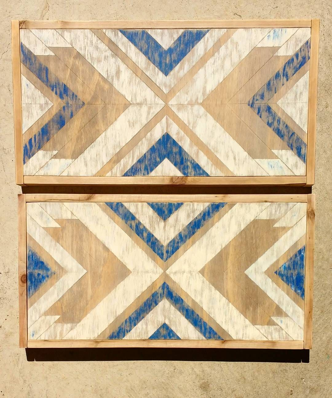 Distressed Aztec pattern wood signs. Handmade in White Rock, BC ...
