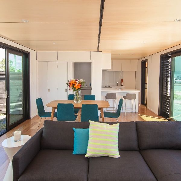 Container Home Interior: 40' Shipping Containers Converted Into A House!