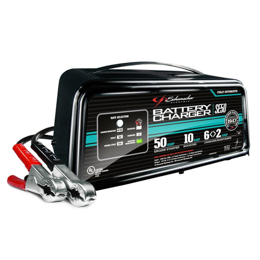 Schumacher Electric 50 Amp 12 Volt Car Battery Charger Se50 In
