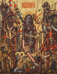 Stelios Faitakis, In Danger of Lust, 2013, mixed media on canvas, 245 x 193 cm - CoSA   Contemporary Sacred Art