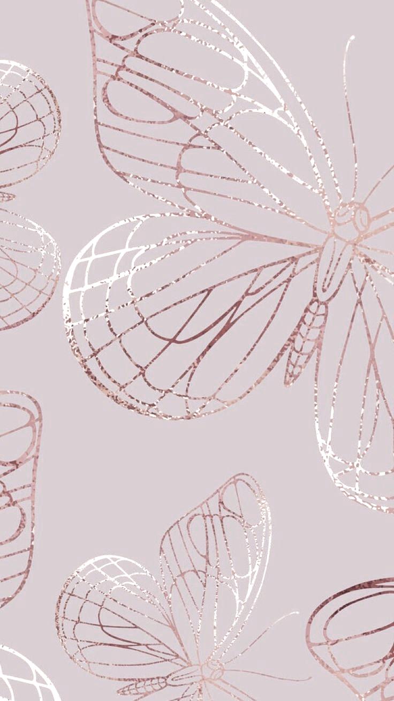 Iphone Rose Gold Esteticka Tumblr Iphone Rose Gold Butterfly Wallpaper In 2020 Gold Wallpaper Iphone Rose Gold Wallpaper Iphone Rose Gold Wallpaper