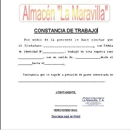 Formatos De Cartas De Trabajo Formatos Y Modelos Legales Formato De Carta Carta De Referencia Carta De Presentacion Laboral