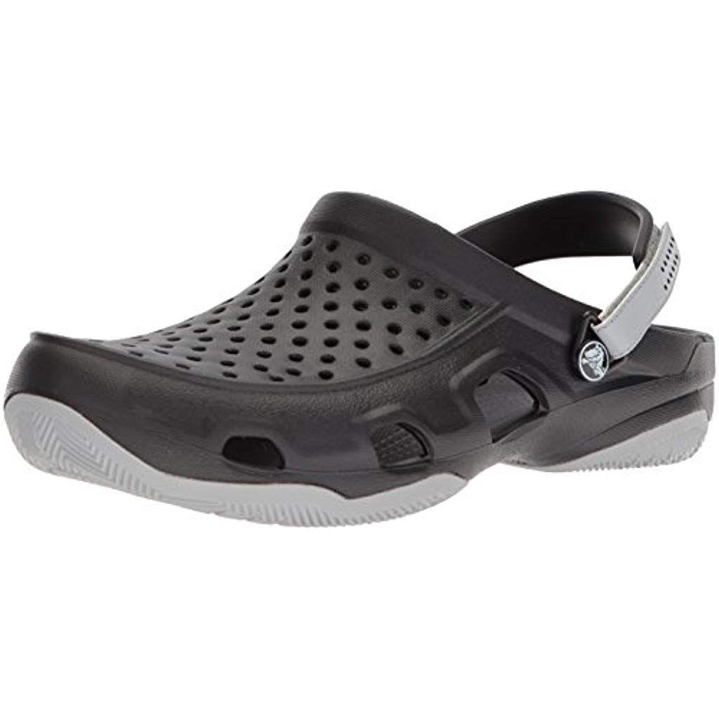Crocs Men Swiftwater Deck Clogs #Fitness #Yoga #Clothing #Women #Trousers #Fitness #Yoga #Clothing #...