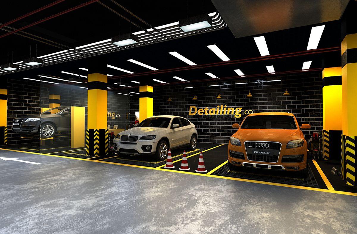 Car care center design 2019 on Behance in 2020 | Car ...