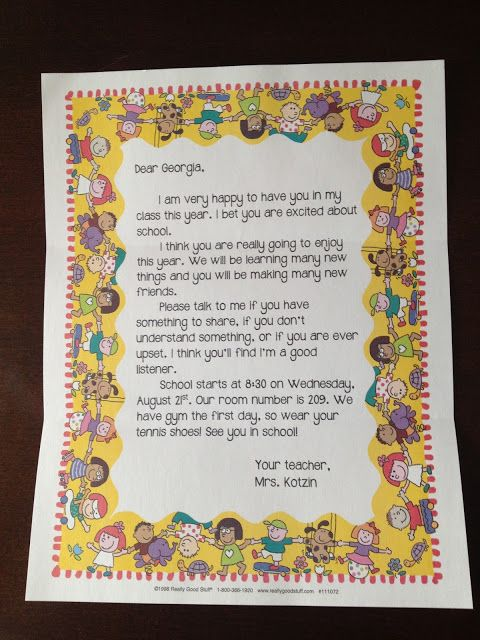 FREE TEMPLATE New Tales of a Third Grade Teacher Welcome Back to - letter to a teacher