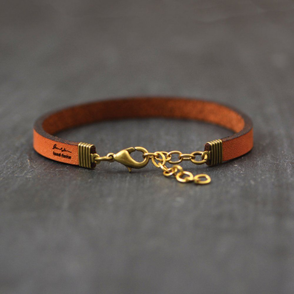 c54bb8c19efaa Mama Bear Brown Leather Quote Bracelet by Laurel Denise: Handmade ...