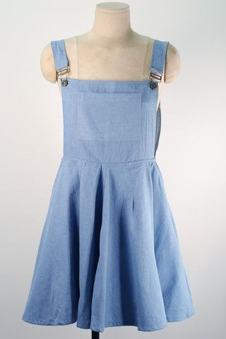 Day Dream Denim Pinafore Dress