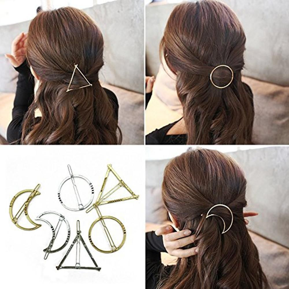 Pair Gold Metal Hollow Butterfly Barrette Alligator Hair Clip Clamp Hairpin