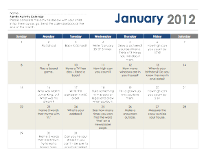 Monthly Homework Calendar Ideas  Teaching Ideas
