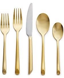 Samantha Gold Mirror 5-Pc. Place Setting