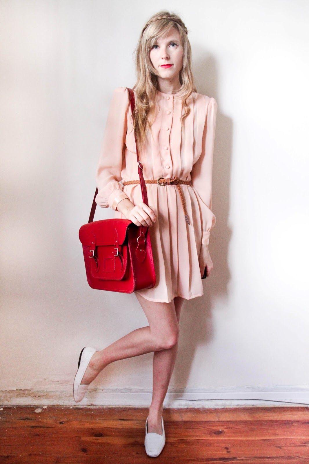 Blush pink + red + white.
