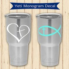 Christian Heart or Fish Vinyl Decal for your by PalmettoTraditions