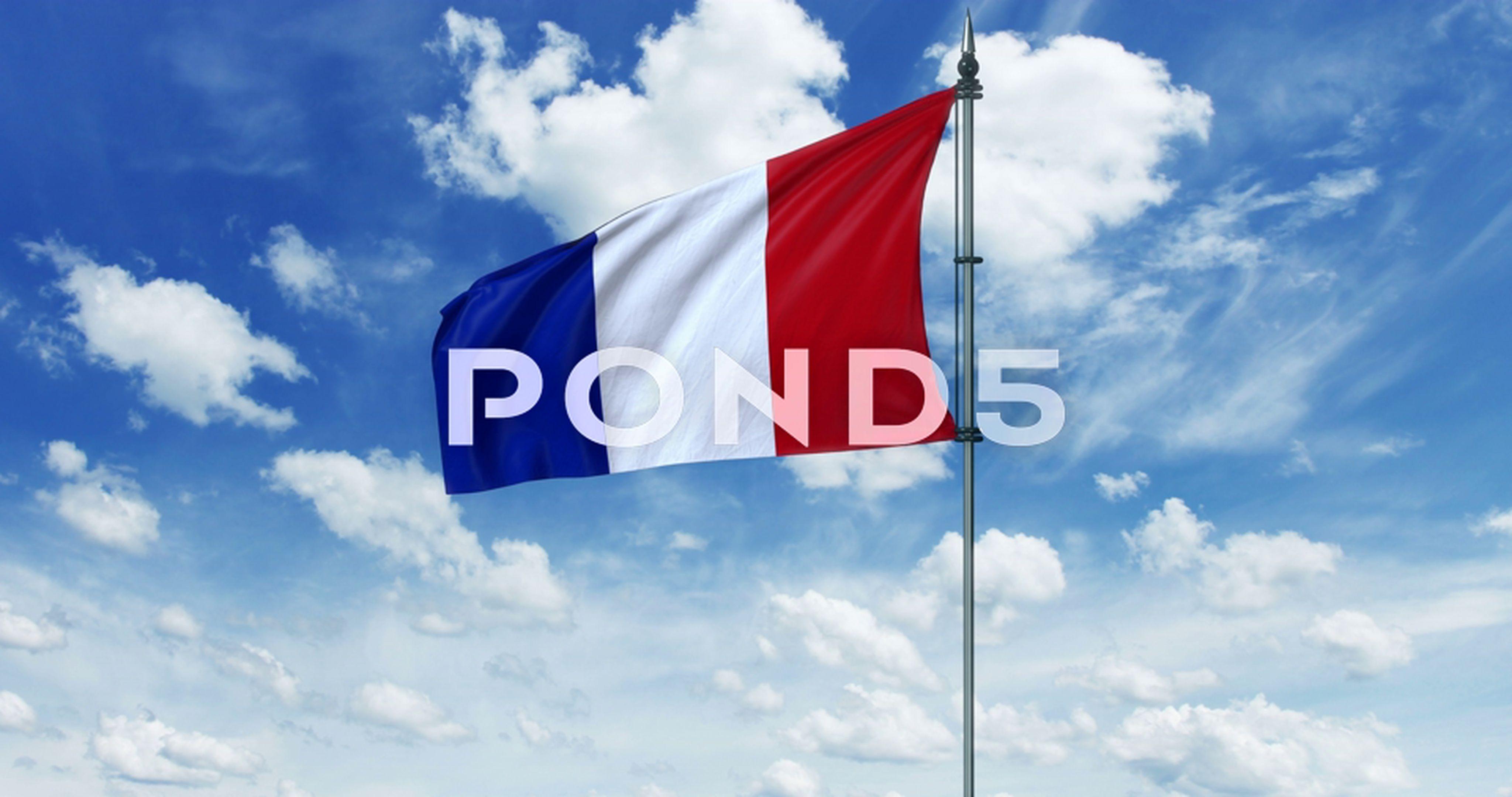 France Flag Animation Alpha Channel Stock Footage Animation Flag