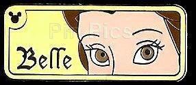 Pin Pics: Pin 58972: WDW - Hidden Mickey 2007 Series 2 - Rear View Mirror Series - Belle