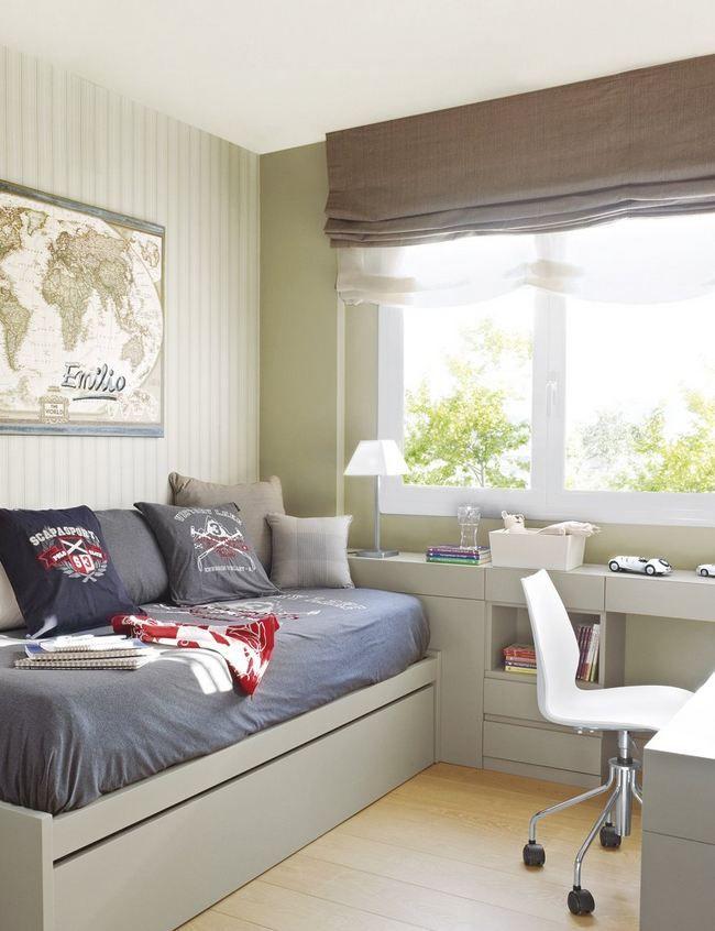 Bedroom with homework space kinderzimmer ideen for Inneneinrichtung jugendzimmer