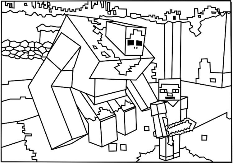 A Printable Roblox Minecraft Monster Coloring Page Minecraft Idee