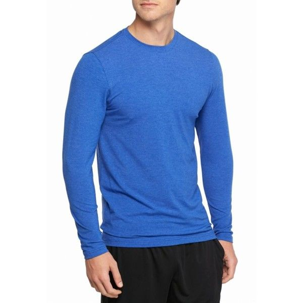 Sb Tech Blue Long Sleeve Cotton Touch Tee 13 Liked On