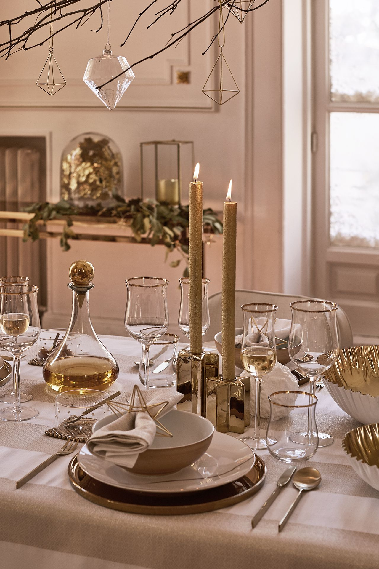 New Collection Zara Home  Christmas 2016 #Whiteandgold Christmas Table