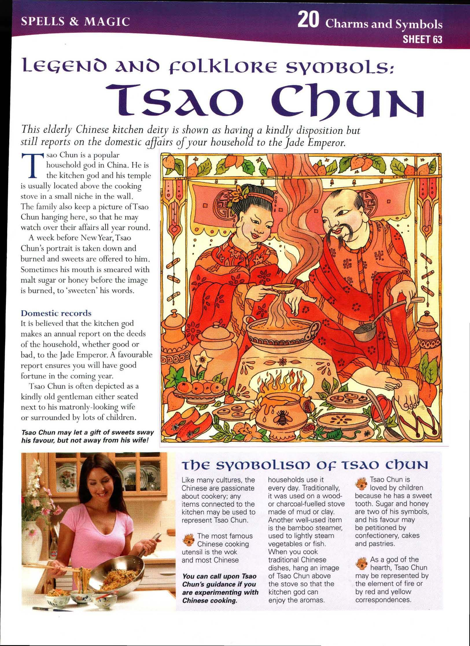 legend and Folklore Symbols: Tsao Chun | stories | Wiccan spells