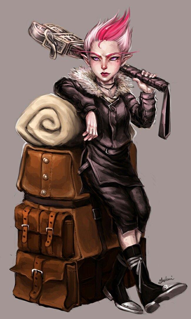 Female Gnome: Pathfinder PFRPG DND D&D D20 Fantasy