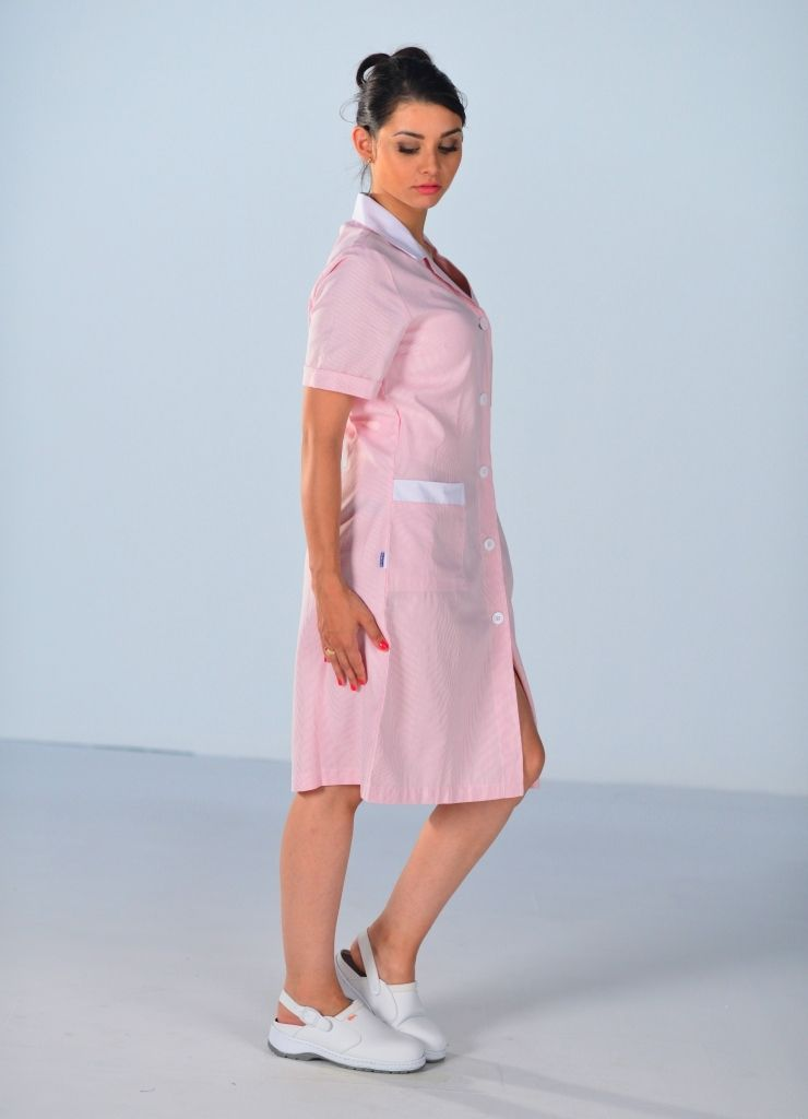 blouse de travail femme de m nage rose en 2019 blouse. Black Bedroom Furniture Sets. Home Design Ideas