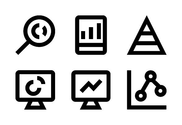 Statistics Analytics Icons By Vectors Market Marketing Analytics Statistics