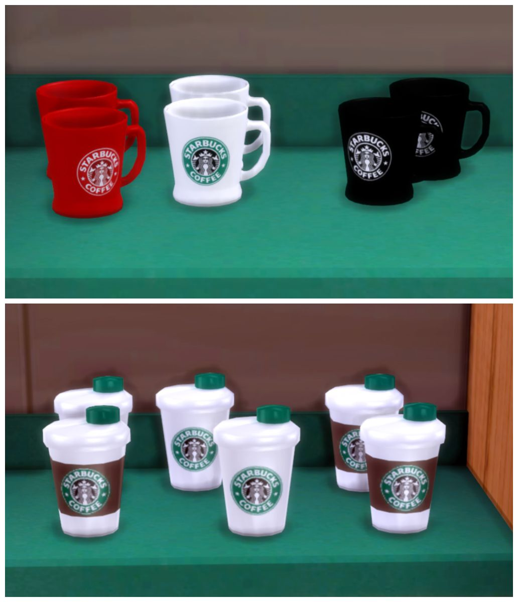 Starbucks Set Part 2 [TS4]Set Includes 21 Items: Awnings