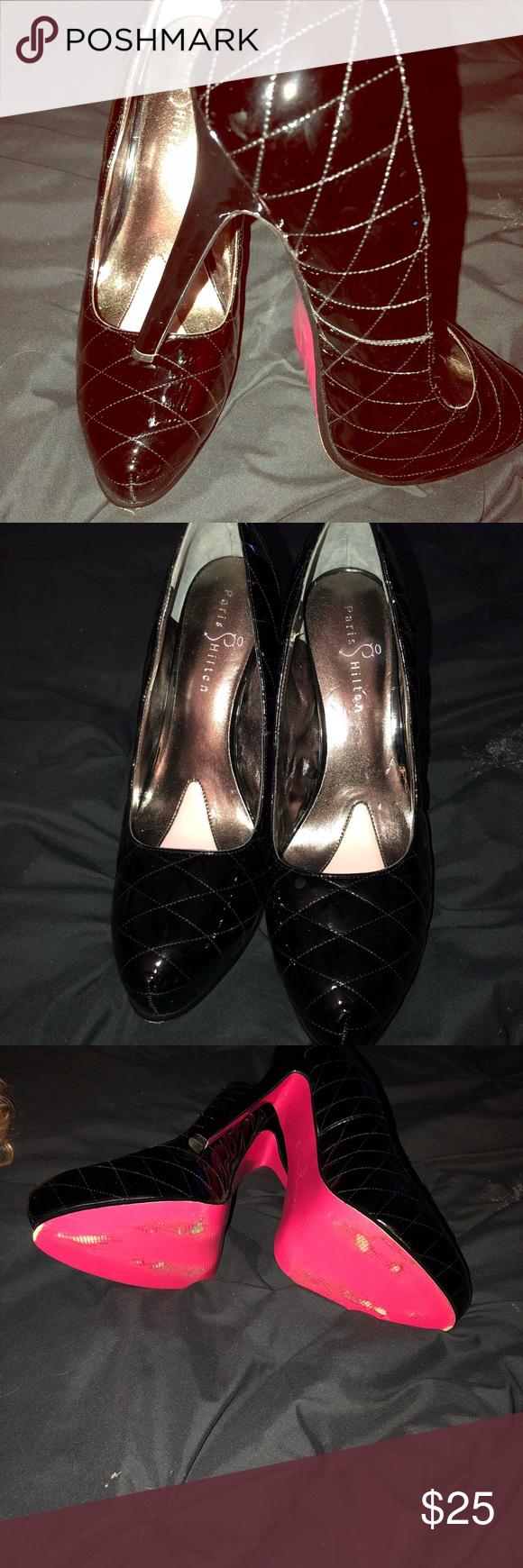 """HOT"" Paris Hilton black patent pump! Barely worn Black"
