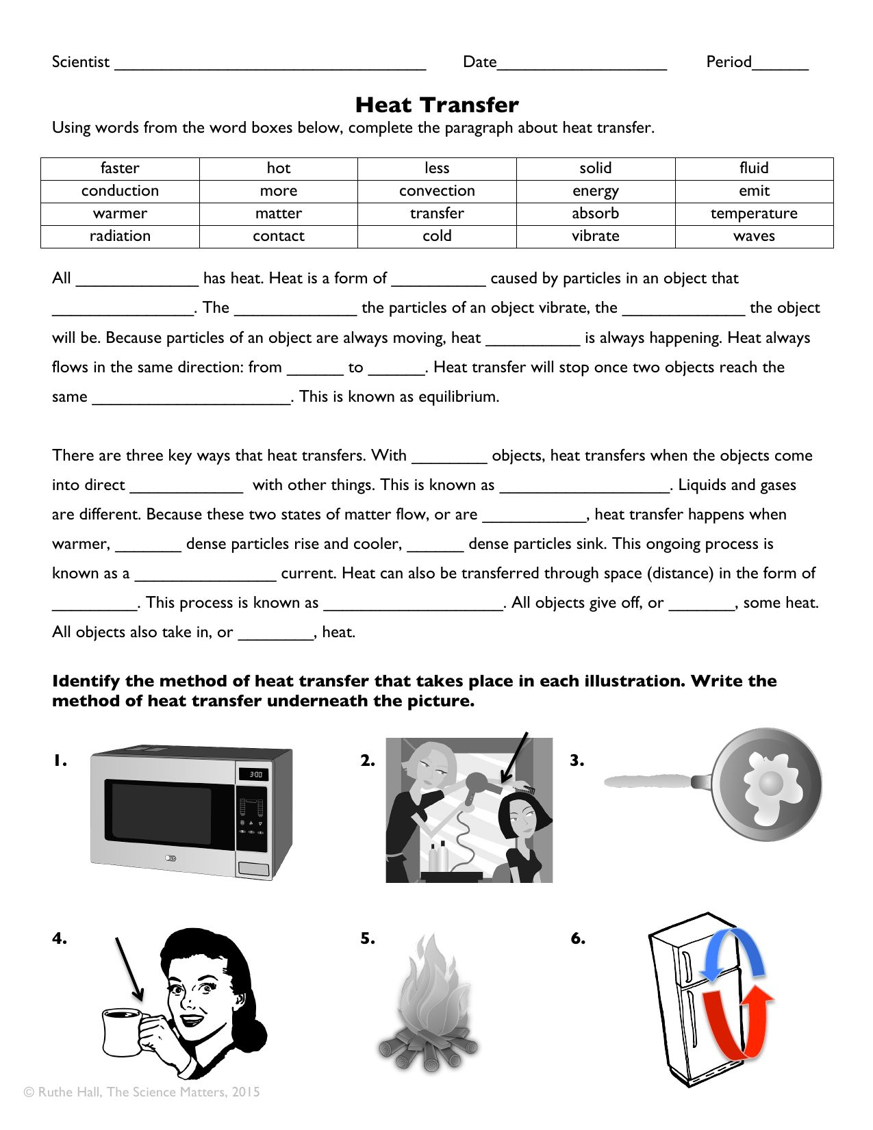 Heat Transfer Worksheet Answers