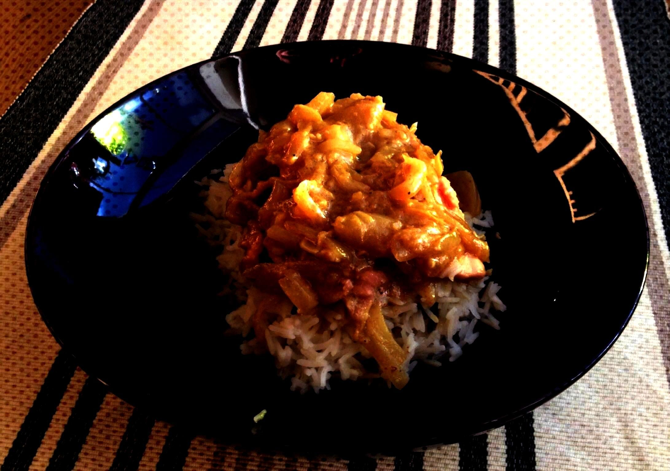 and Ginger Chicken (this is so much tastier than it looks!) - Trisha Posner - Ivory Coast - Lemon a