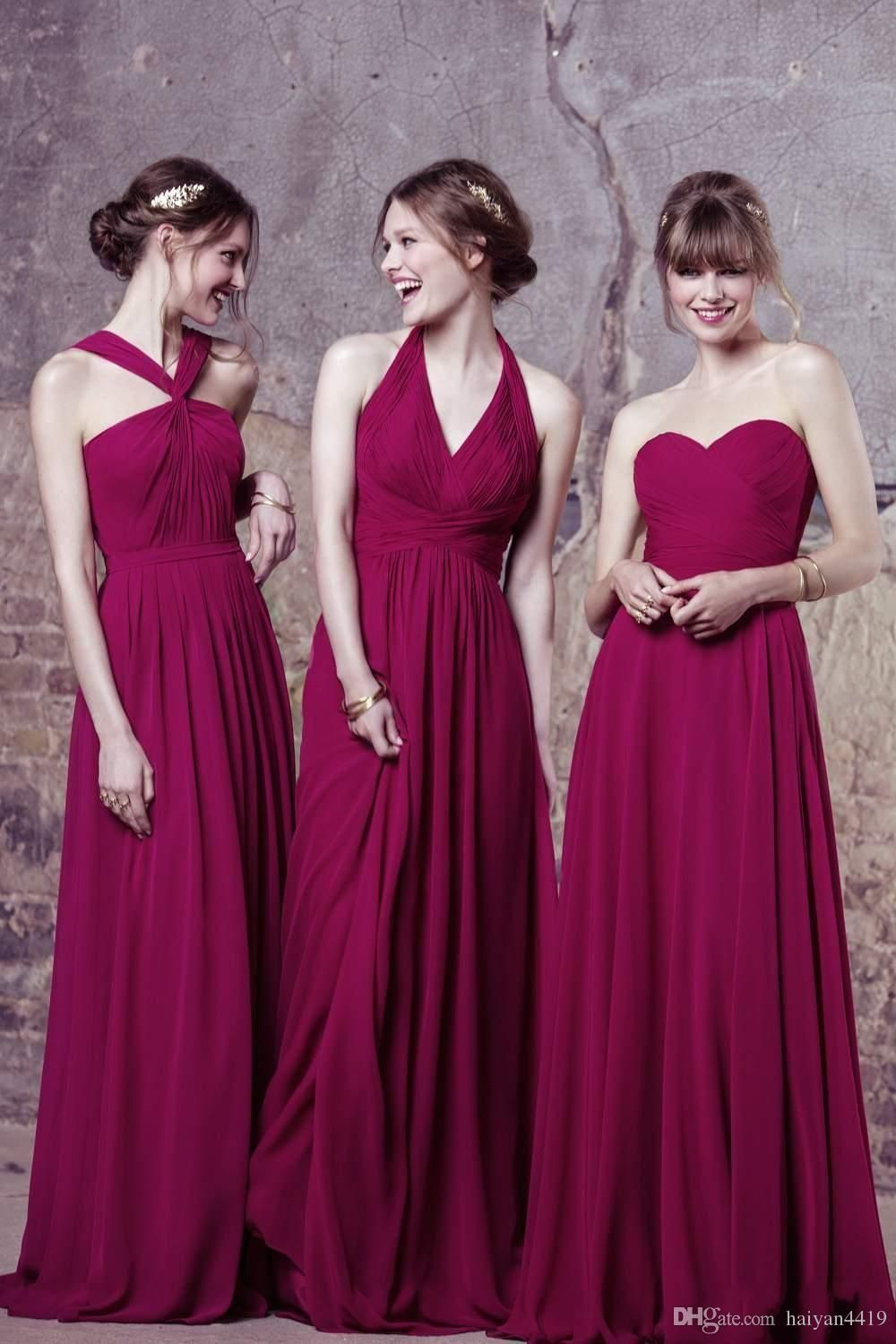 2017 new cheap long bridesmaid dresses halter wedding guest wear 2017 new cheap long bridesmaid dresses halter wedding guest wear summer beach chiffon plum party dress plus size maid of honor gowns ombrellifo Choice Image
