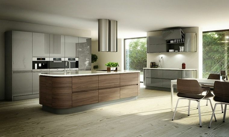 Modern L Shaped Kitchen With Island On 108 Gorgeous Photos Furniture Design Decoration Contemporary Kitchen Classy Kitchen Kitchen Inspirations