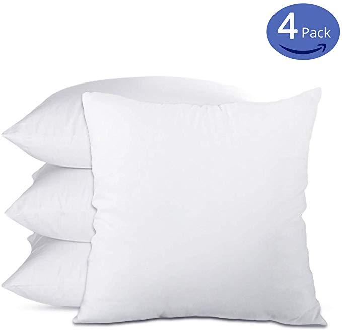 Amazon Com Emolli 20 X 20 Pillow Inserts Set Of 2 Throw Pillow Inserts Premium Stuffer Down Alternative Super Soft Throw Pillow Inserts Pillows Throw Pillows Pillow inserts 20 x 20