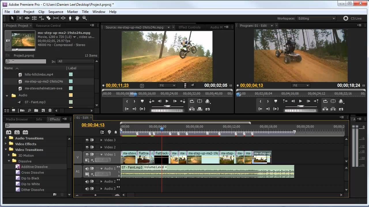 HOWTO Basic Video Editing (Premiere CS5) Video editing