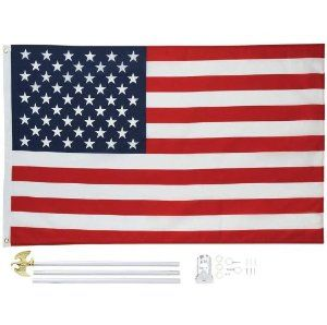 5 X 3 United States Flag And Pole Kit By Bnf 23 21 Features 3 Section 6 Aluminum Pole Wall Mounting Bracket And Flag Pole Kits Flag Flag Decor