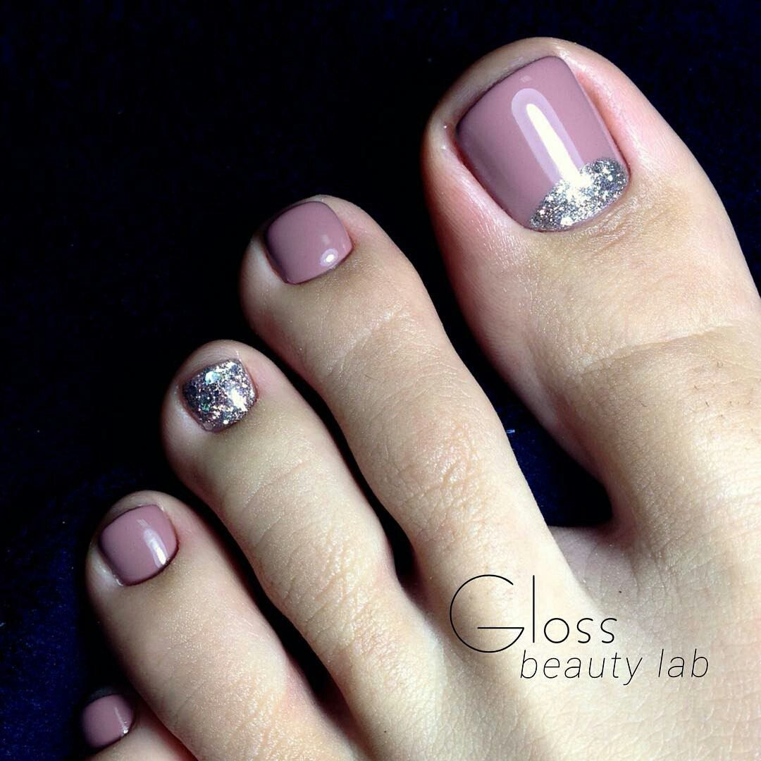 Taup Pink toe nail art | Pedicure | Pinterest | Pink toe nails, Pink ...