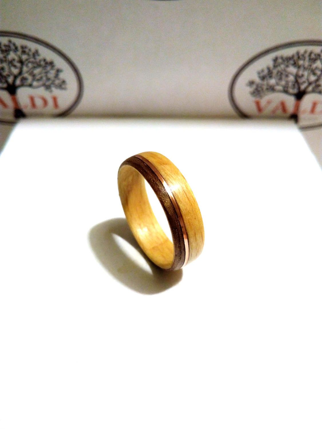 wedding jewelry ring with by set johan products wood teak titanium rings burl in