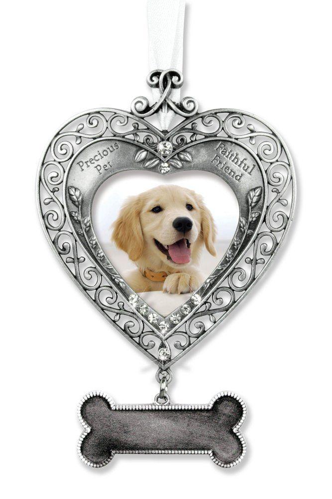 Dog Memorial Photo Ornament