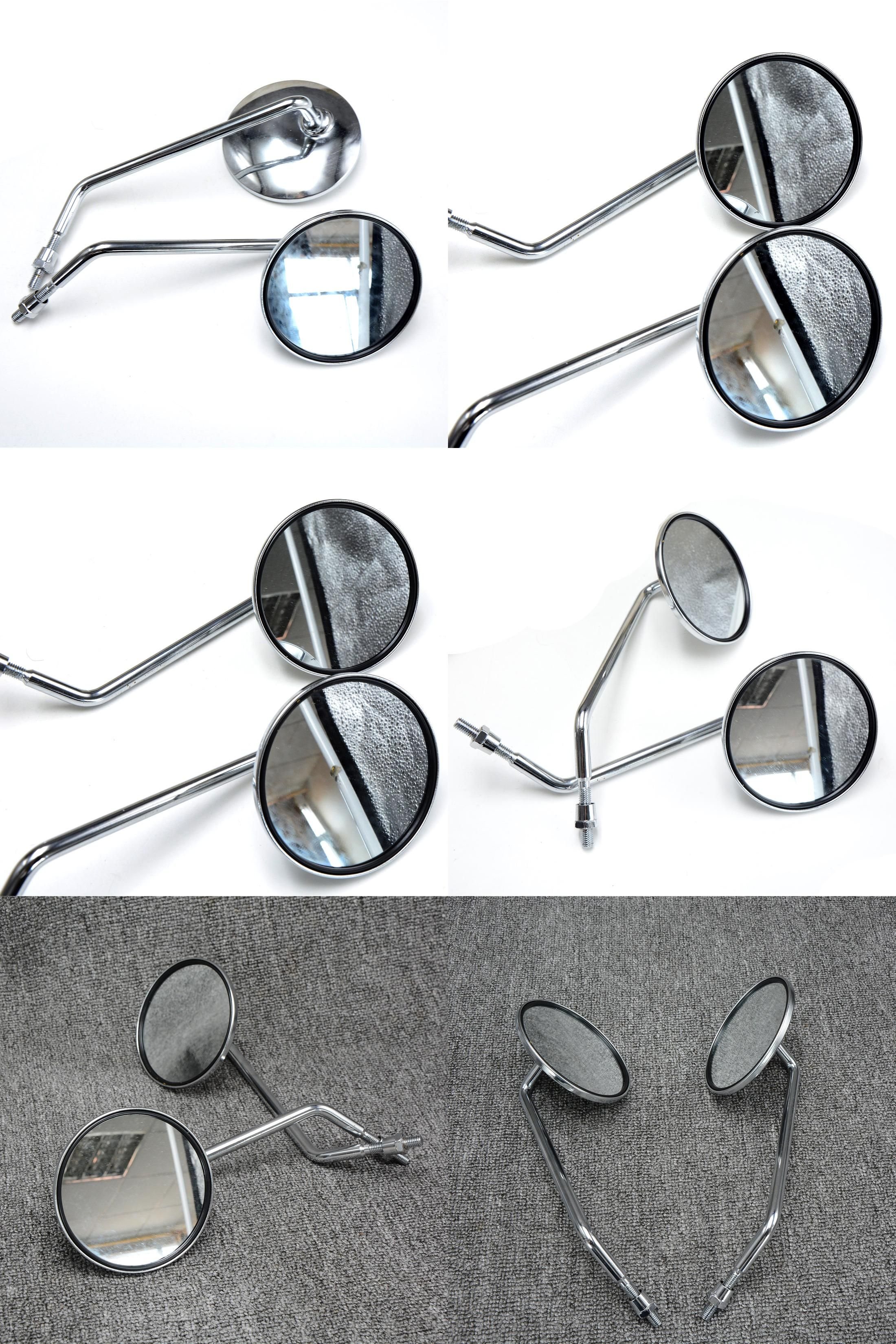 visit to buy 8mm 10mm universal motorcycle accessories mirrors chrome round mirror motorcycle