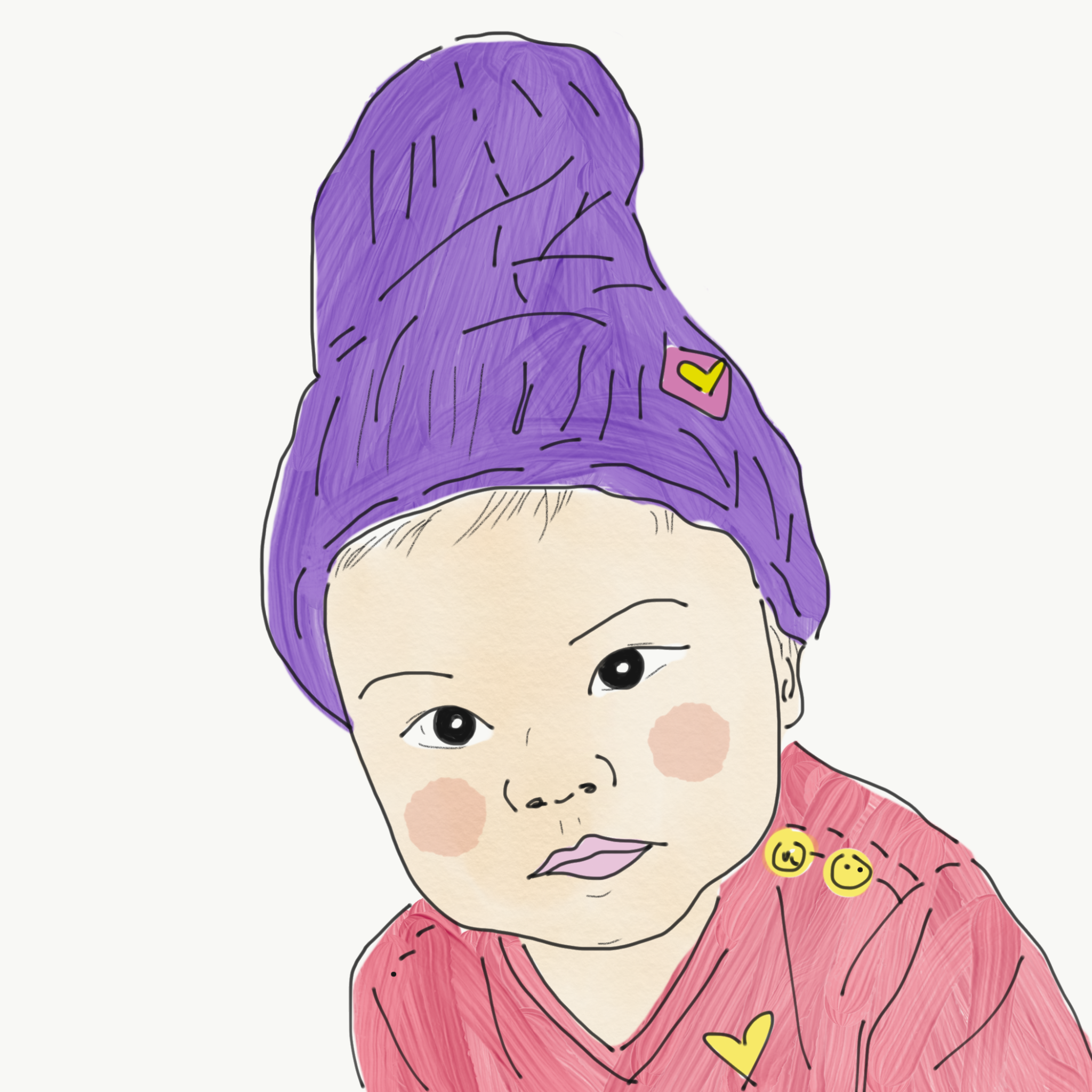 Illustrated Portrait By Junesse Jani Baby Portrait Illustration Illustration Disney Characters