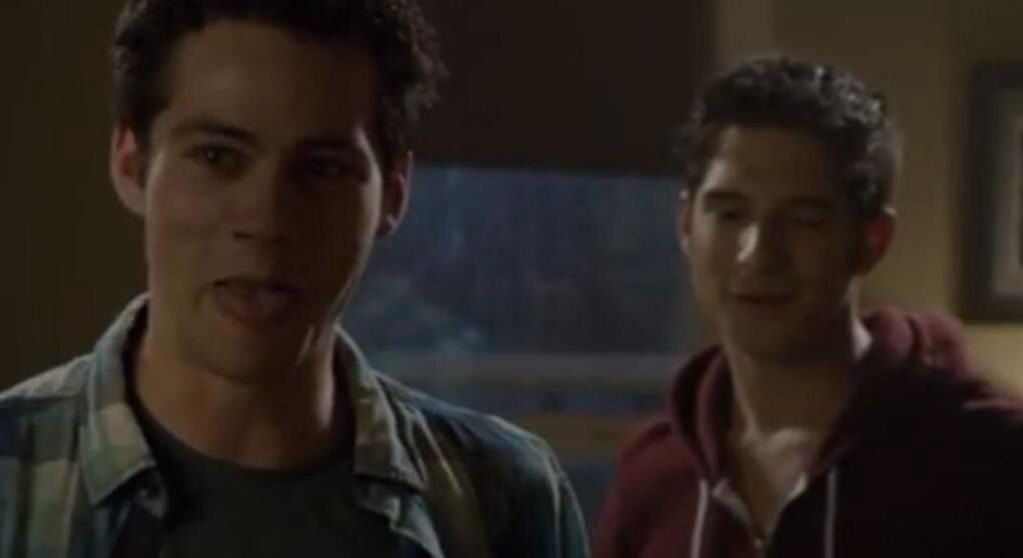 Dylan O'Brien and Tyler Posey (from Teen Wolf season 4 bloopers)