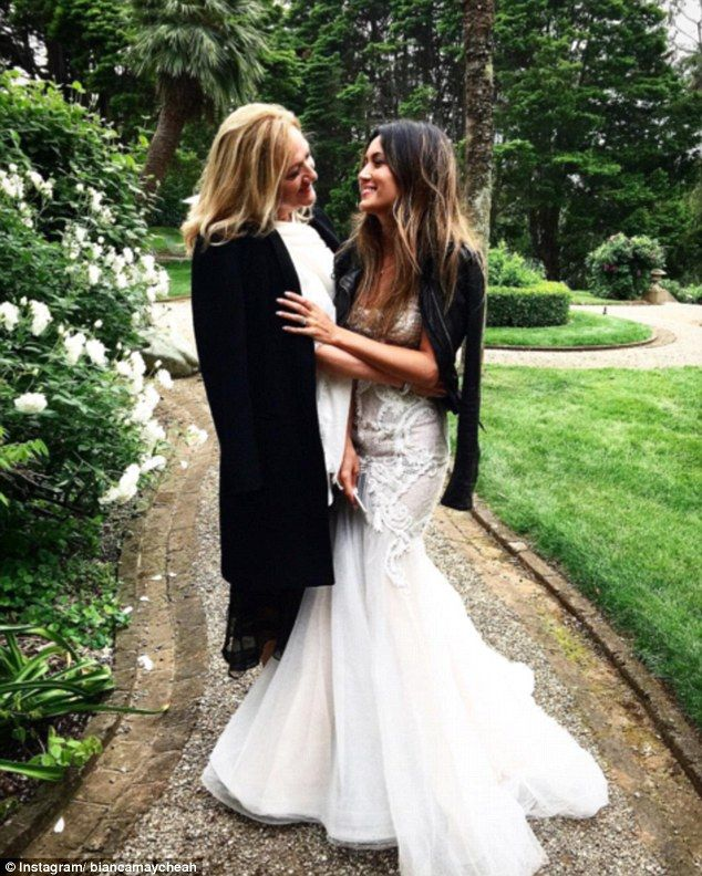 Winter brides are pairing their classic gowns with LEATHER
