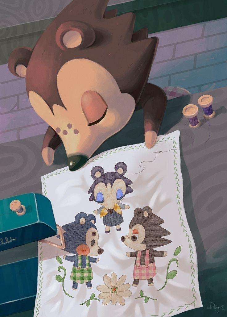 10+ Cute Animal Crossing Art Designs