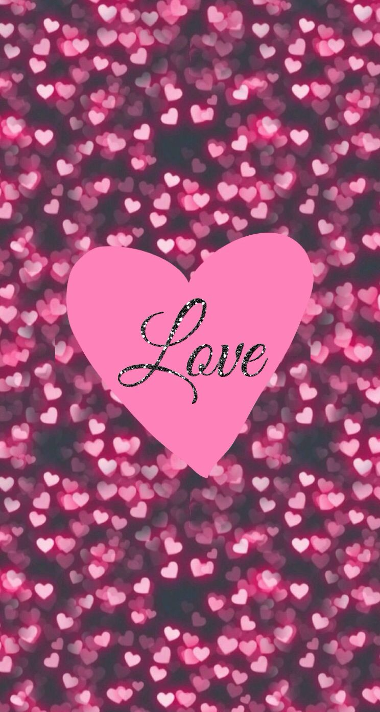 Love iPhone wallpaper it says it all... Pink hearts