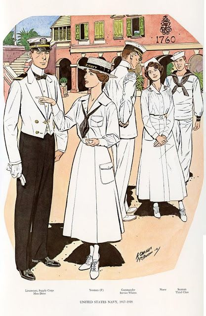 UNITED STATES NAVY 1917-1918 | Military Art | Pinterest | Uniformes ...