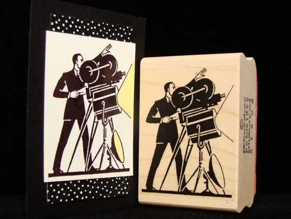 movie rubber stamp the director by pictureshow on Etsy, $6.00