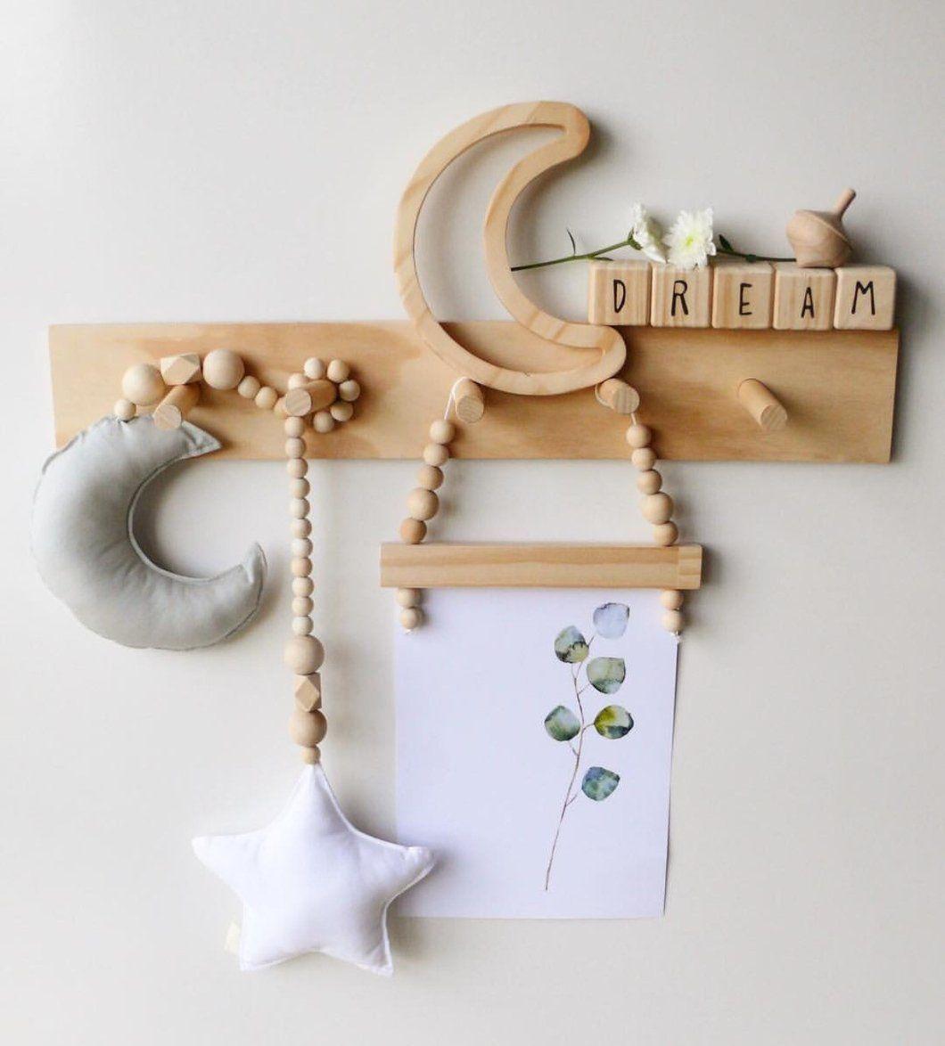Tassel Wooden Beads Car hanging Wall Hanging Pendant Natural Wood Nursery Room