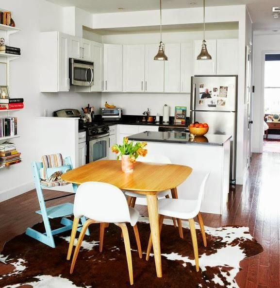 Our Brooklyn Apartment | A Cup Of Jo | Stokke Tripp Trapp High Chair In  Aqua · At Home DecorBrooklyn ...