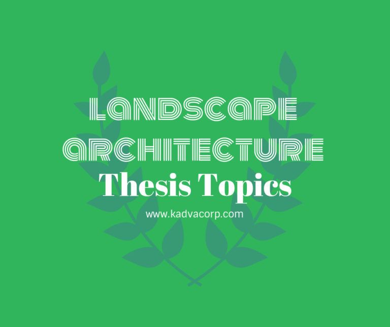 Hot Landscape Architecture Thesi Topic With Research Project Example Thesis Dissertation Pdf