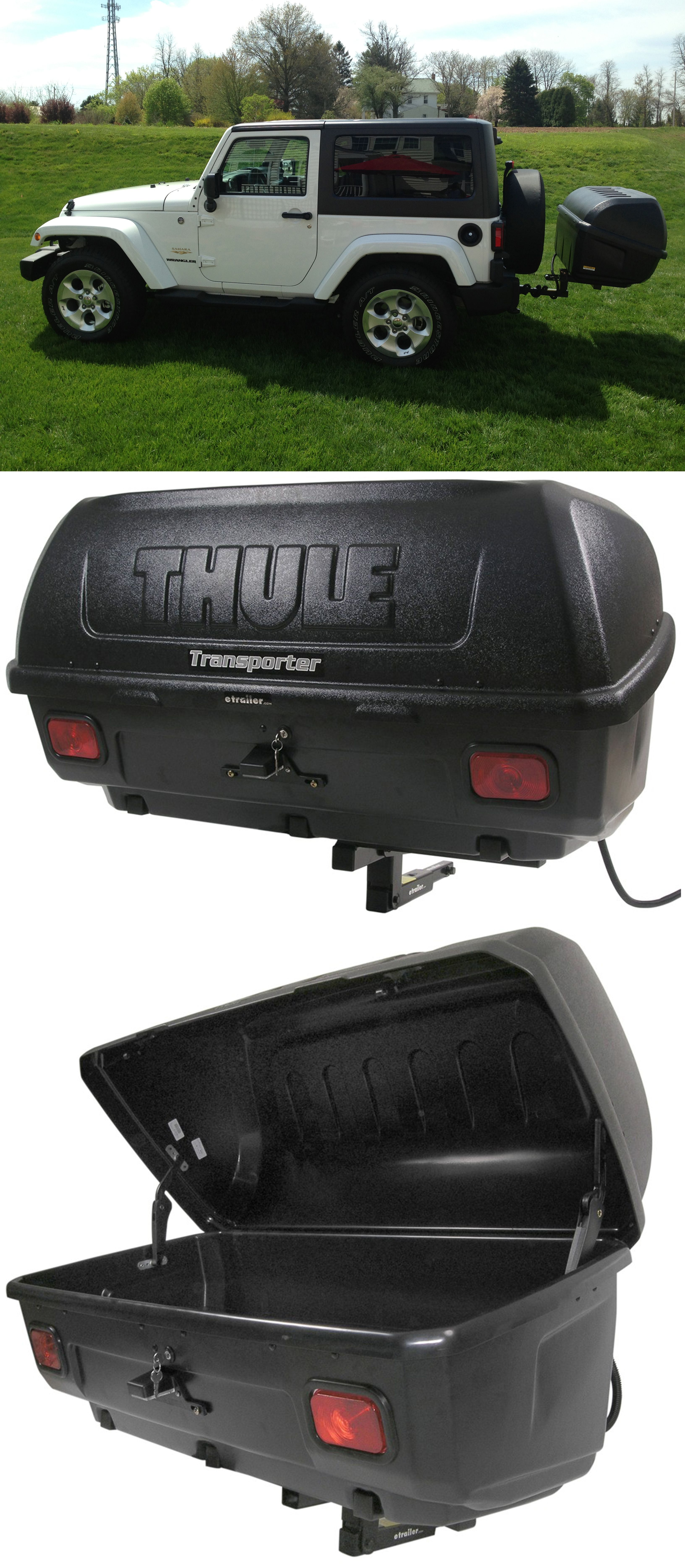 Trailer Hitch Luggage Rack Thule Transporter Combi Hitch Mounted Enclosed Cargo Carrier